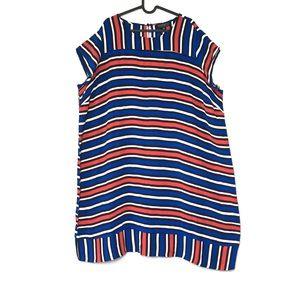 Eloquii striped sheath dress short sleeve pull on